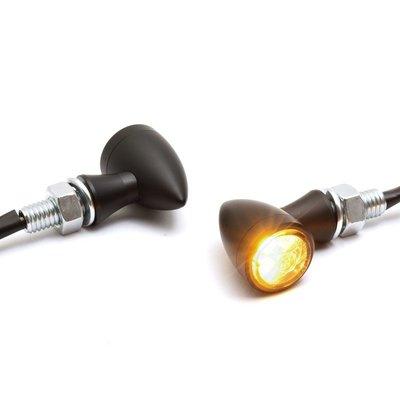 Micro Bullet LED Turnsignal black, ECE