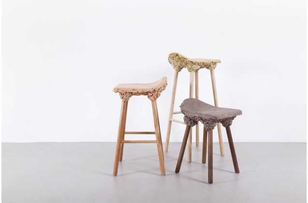 Marjan van Aubel & James Shaw Well Proven Stools