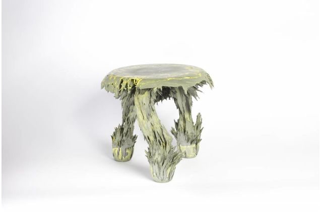 Jólan van der Wiel Gravity Stool - Yellow & grey