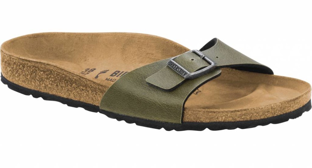 Birkenstock Madrid vegan  pull up olive