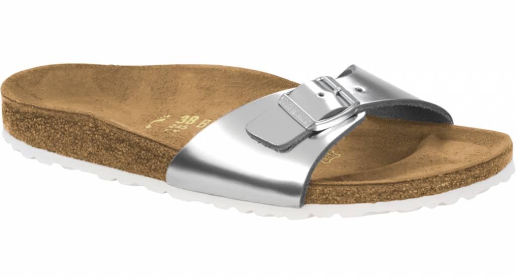 super popular 9f891 b2652 Birkenstock Madrid metallic silver size leather36