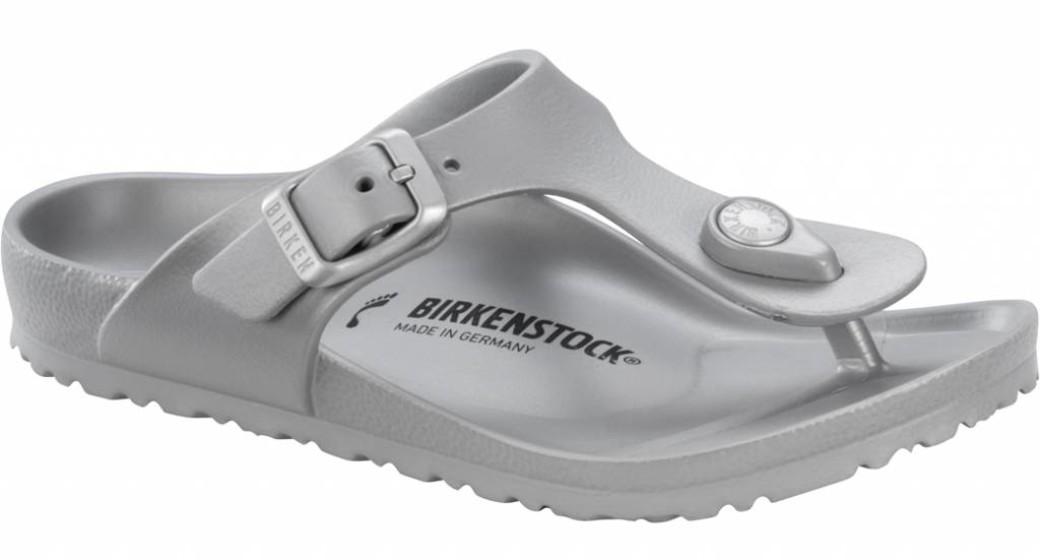 Birkenstock Gizeh kids eva metallic silver