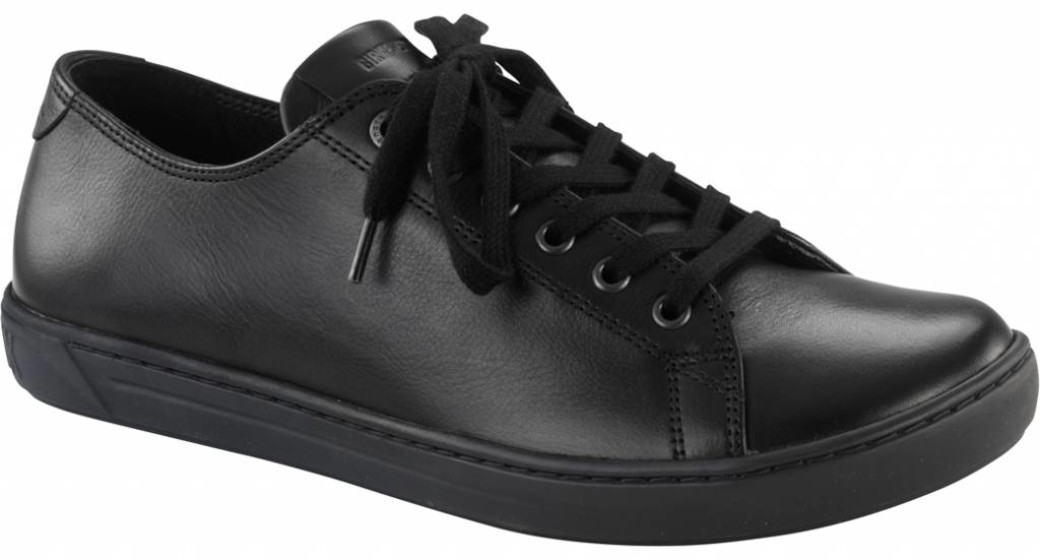 Birkenstock Arran ladies black leather in 2 widths