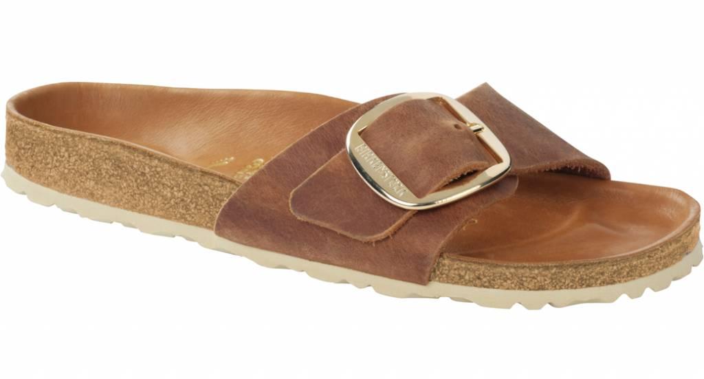 a32eded61dd Birkenstock Madrid big buckle cognac antique leather - The Sandalsshop