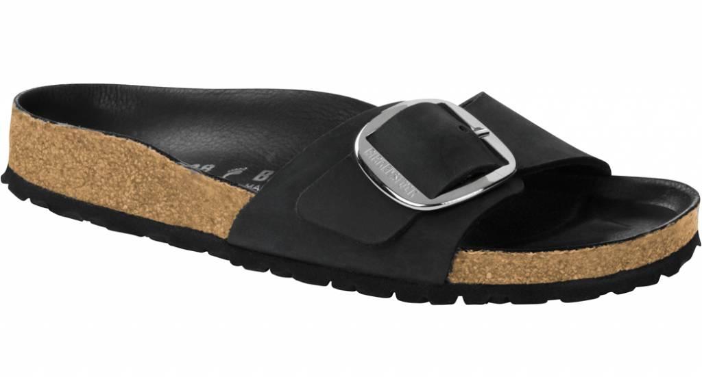 bcfeb12c4 Birkenstock Madrid big buckle black oiled leather - The Sandalsshop