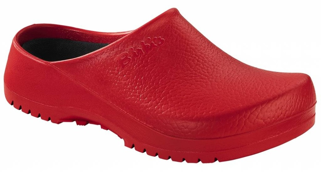 Birkenstock Super Birki red for wide feet