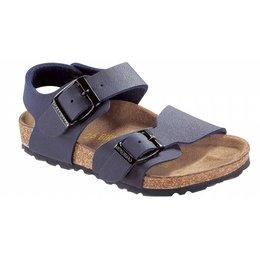 Birkenstock New york kids nubuck blauw voor normale voet