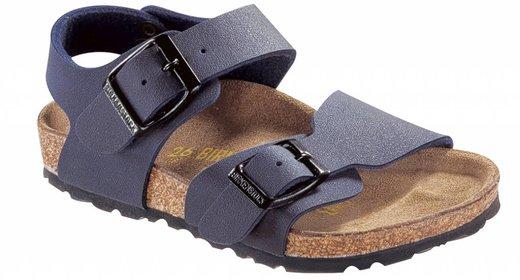 Birkenstock Birkenstock New york kids nubuck blue for normal feet