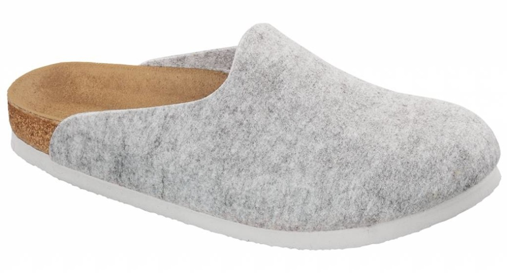 Birkenstock Amsterdam light grey for wide feet