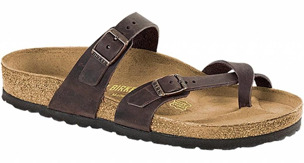 Birkenstock Mayari habana leer voor normale voet