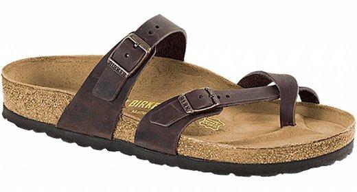Birkenstock Birkenstock Mayari habana leer voor normale voet