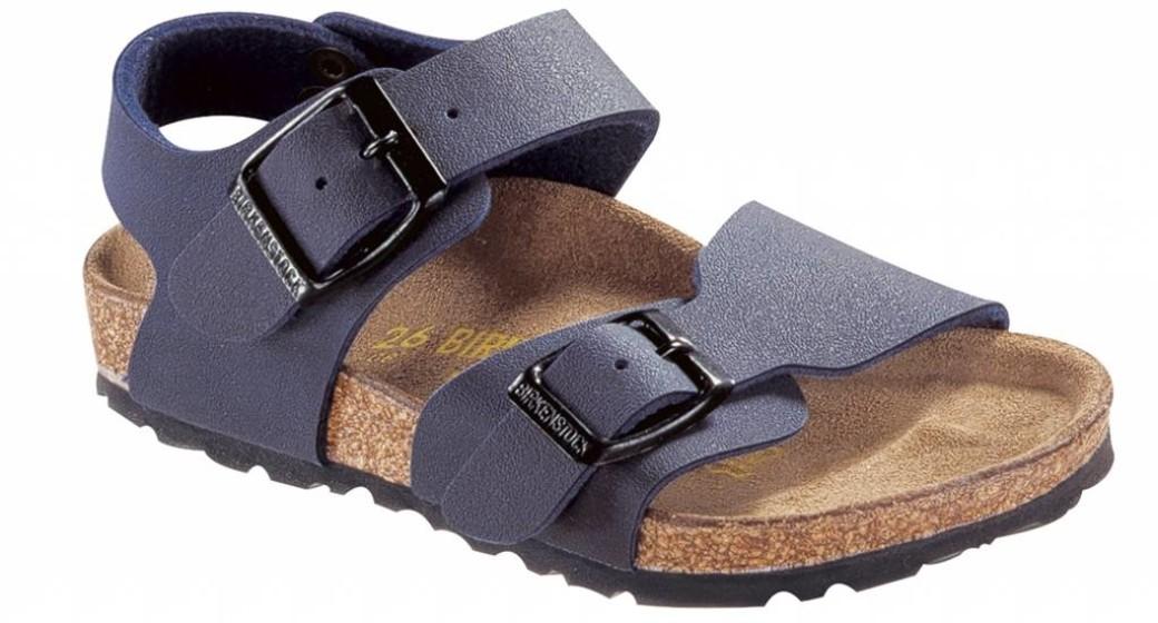 Birkenstock New york kids nubuck blauw voor brede voet