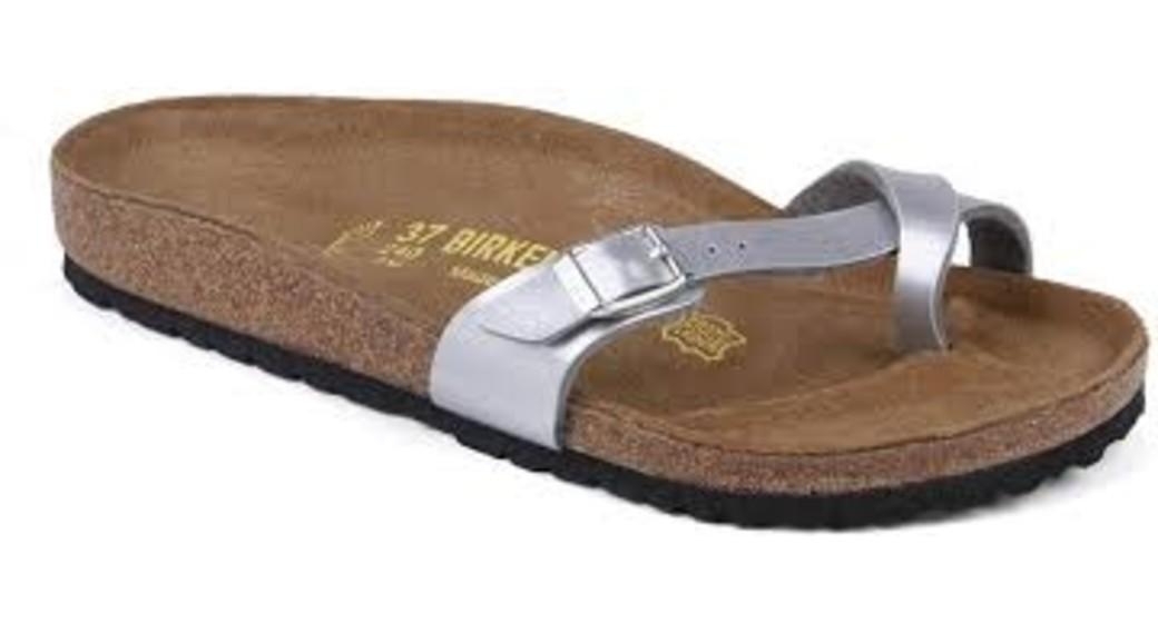 Birkenstock Piazza silver for normal feet