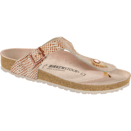 Birkenstock Gizeh mermaid cream soft leather for normal feet