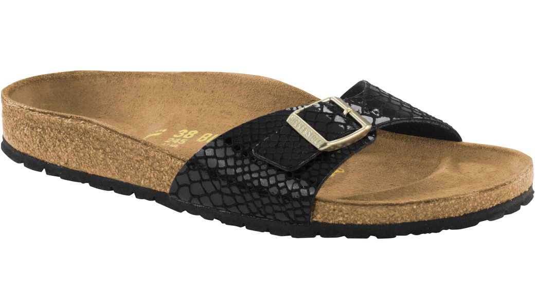 Birkenstock Madrid magic snake black for normal feet