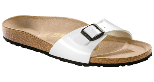 Birkenstock Birkenstock Madrid white patent for normal feet