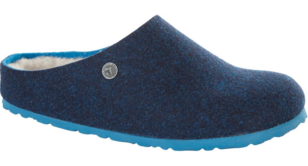 Birkenstock Kaprun dubbelvilt wol blauw voor normale voet
