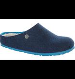 Birkenstock Birkenstock Kaprun dubbelvilt wol blauw voor normale voet