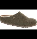Birkenstock Birkenstock Kaprun dubbelvilt wol khaki voor normale voet
