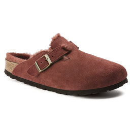 Birkenstock cl Boston Antique Port narrow Shearling