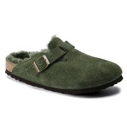 Birkenstock cl Boston Green narrow Shearling