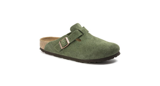 Birkenstock cl Boston Green narrow Suede