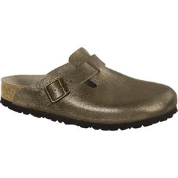 Birkenstock cl Boston Washed Metallic Antique Gold narrow Leather