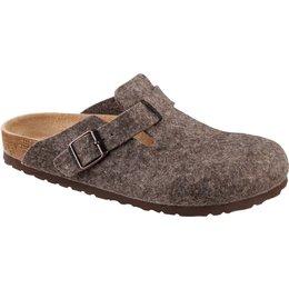 Birkenstock Boston Cocoa wol voor normale voeten