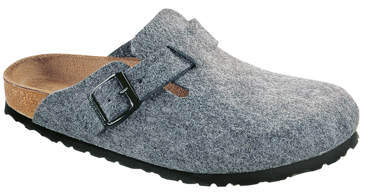 Birkenstock boston grau wolle