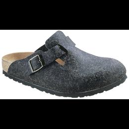 Birkenstock Boston wol felt anthracite for normal feet