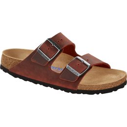 Birkenstock Arizona earth red olied leather soft footbed for normal feet