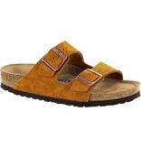 Birkenstock Arizona Mink suède leather,  soft footbed,  for normal feet