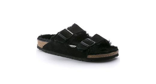 Birkenstock  Birkenstock Arizona zwart wol gevoerd voor normale voet