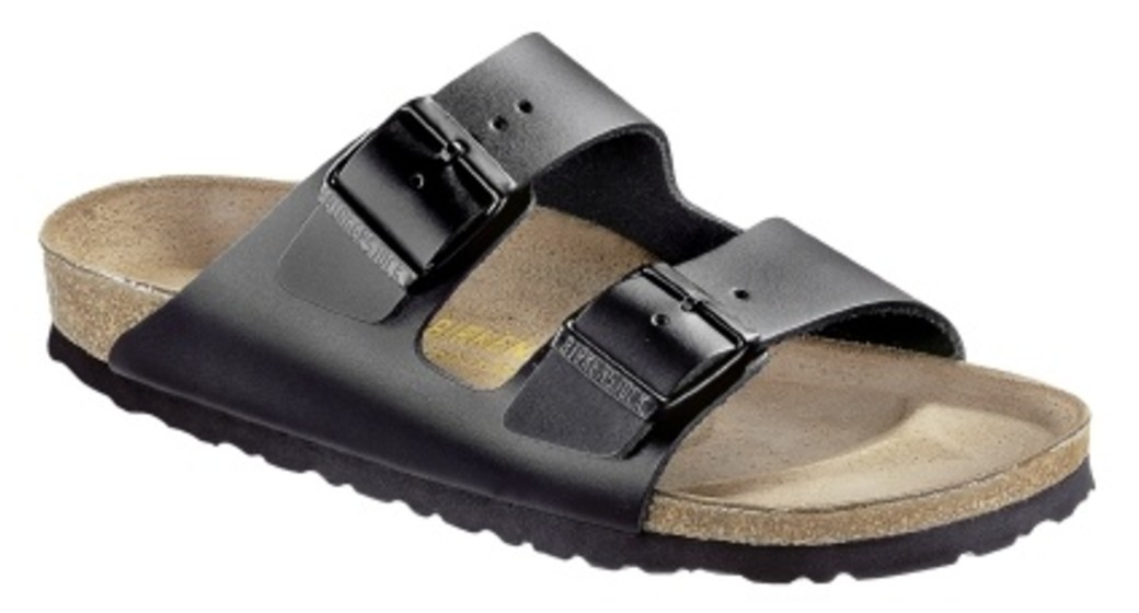 Birkenstock Arizona black leather for normal feet