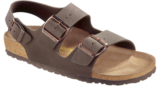 Birkenstock Birkenstock Milano nubuck mocca for normal feet