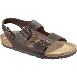 Birkenstock Milano dark brown leather for wide feet