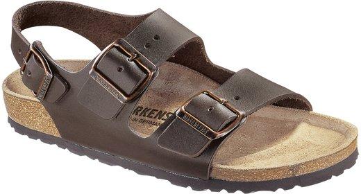 Birkenstock Birkenstock Milano dark brown leather for wide feet