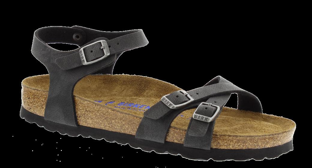Birkenstock Kumba nubuck zwart zacht voetbed voor normale voet