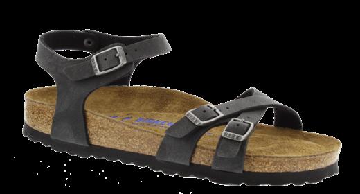 Birkenstock Birkenstock Kumba nubuck zwart zacht voetbed voor normale voet