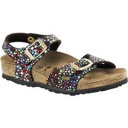 Birkenstock Rio kids oriental mosaic black for normal feet