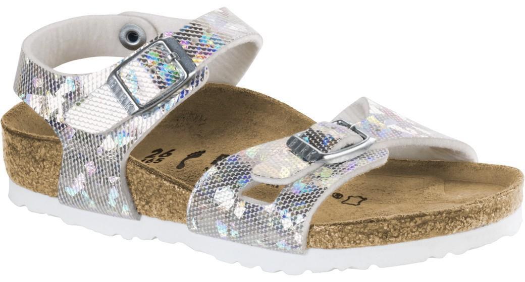 Birkenstock Rio kids hologram silver for normal feet