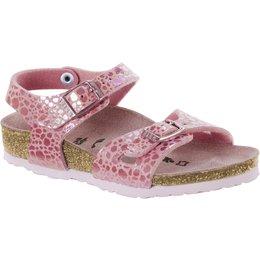 Birkenstock Rio kids metallic stones pink for normal feet