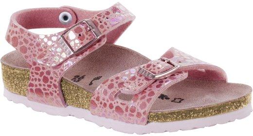 Birkenstock Birkenstock Rio kids metallic stones pink for normal feet