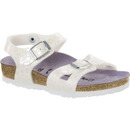 Birkenstock Rio kids metallic stones white for normal feet