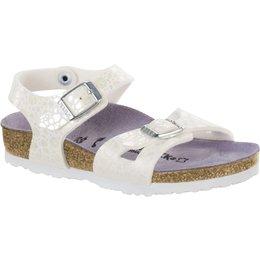 Birkenstock Rio kids metallic stones wit voor normale voet