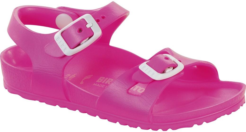 Birkenstock Rio kids eva neon roze voor normale voet