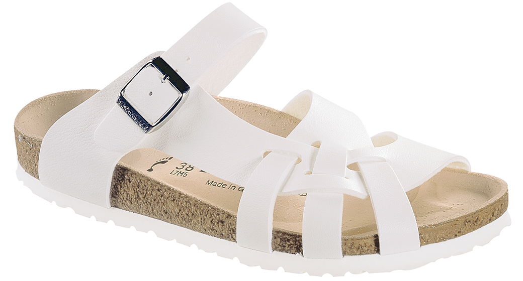 Birkenstock Pisa white for normal feet