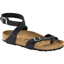 Birkenstock Yara black oiled leather for normal feet