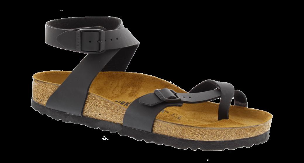 Birkenstock Yara zwart birko-flor voor normale voet