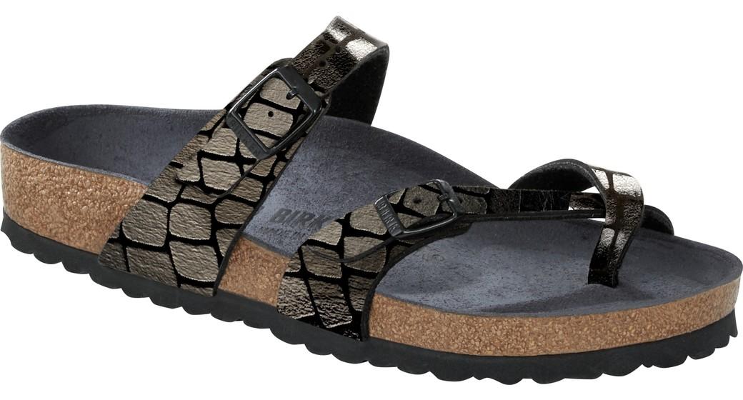 Birkenstock Mayari Gator Gleam zwart voor normale voet